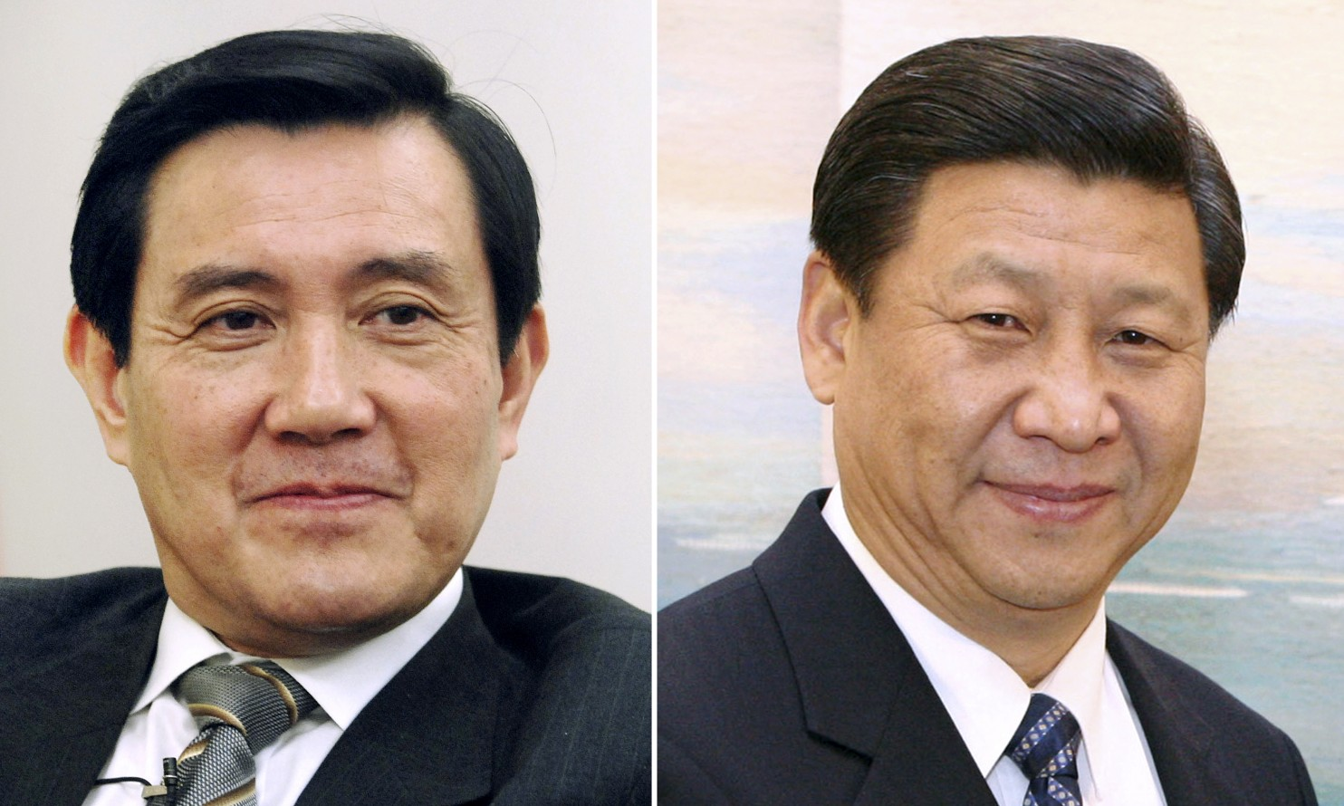 Taiwan's President Ma Ying-jeou, left, and China's President Xi Jinping